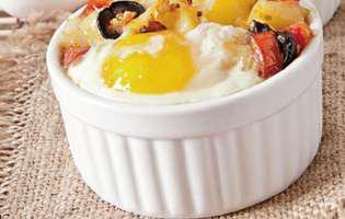 Gustare cu ouă la cuptor
