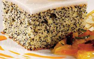 Prăjitură cu lămâie și mac