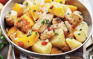 Pui cu cartofi și dovleac