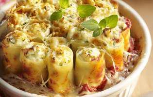 Cannelloni cu brânză