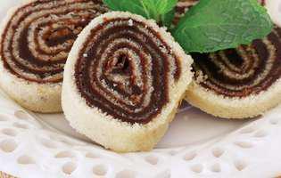Ruladă cu cremă de ciocolată