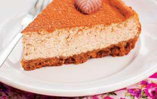 Prăjitură fără coacere cu brânză și cafea