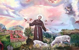 Francisc de Assisi ocrotește necuvântătoarele