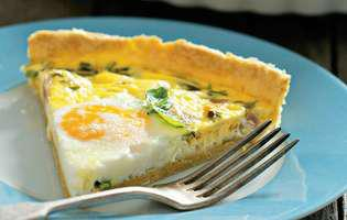 Tartă cu smântână și ou