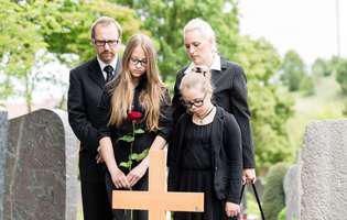 înmormântarea