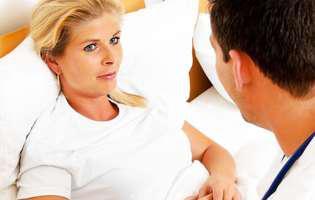 Fibroza uterină. femeie la control medical