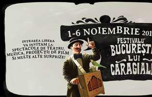 """Festivalul """"Bucureștii lui Caragiale"""" are loc în Parcul Izvor, 1-6 noiembrie 2016"""