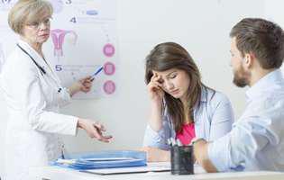 infertilitatea. cuplu afectat de infertilitate la doctor