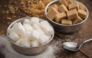zahăr brun sau zahăr brut