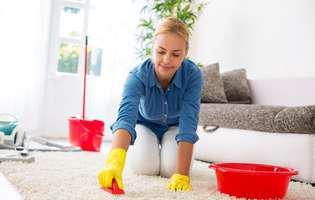 soluții de curățat covoarele