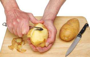 cum să folosești cojile de la cartofi