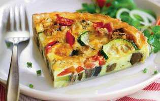 tarta cu brânză si legume