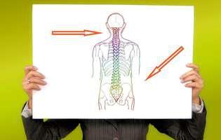 Tumora vertebrală este un tip de tumoră localizată la nivelul coloanei vertebrale care poate fi benignă sau malignă. Imagine cu coloana vertebrală și zonele unde poate fi localizată tumora vertebrală