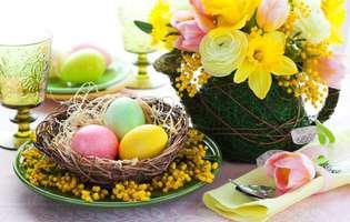 cum aranjezi masa de Paște