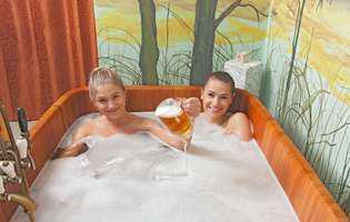 Berea în apa de baie are beneficii pentru piele