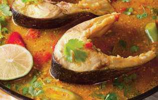 pește cu sos curry