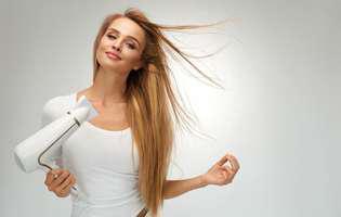 utilizări diverse pentru uscătorul de păr