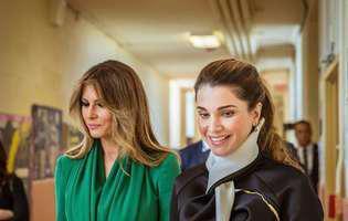 Melania Trump și Regina Rania sunt frumoase și elegante