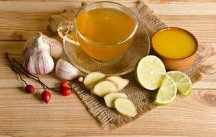 alimente care combat infecțiile: ghimbirul, lămâia, usturoiul, mierea