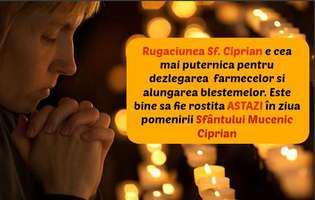 Rugăciunea Sfântului Ciprian, care ne scapă de farmece