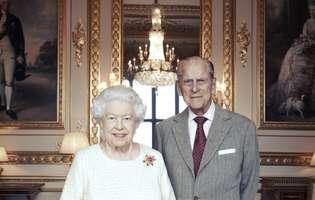 Portret aniversar cu regina Elisabeta a II-a și prințul Philip,  la împlinirea a 70 de ani de la căsătorie. Cum vor sărbători cei doi nunta de platină