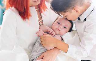 Cum arată fiica Elenei Gheorghe, la șapte luni de când a venit pe lume.