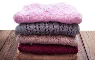 cum pui la păstrare puloverele groase