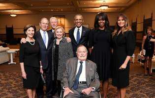 imagine d ela inmormantarea Barbarei Bush