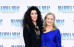 Cher si Meryl Streep s-au sarutat