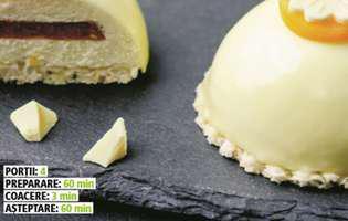 Prăjiturele cu cremă de brânză și ciocolată albă