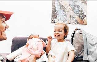 Cum a reactionat fetita Andreei Balan cand a cunoscut-o pe micuta Clara