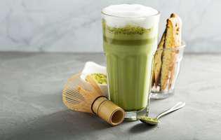 Ingrediente pentru Matcha Latte, băutură întăritoare pentru dimineață