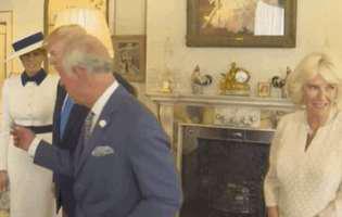 Camilla a facut cu ochiul in timpul intalnirii cu Donald Trump