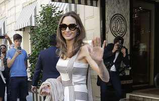 Angelina Jolie si-a condus fiul la facultate