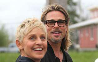 Brad Pitt si Ellen DeGeneres au avut aceeasi iubita