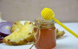Sucul-minune care calmează tusea iritativă preparat din ananas și miere