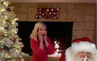 Tori Spelling si familia ei in pijamale