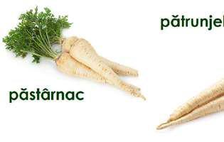Alimente pe care le confundăm. Rădăcina de păstârnac și cea de pătrunjel