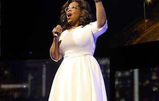Oprah a cazut pe scena