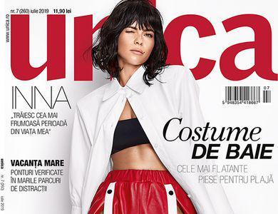 INNA, apariție hot pe coperta revistei Unica iulie 2019