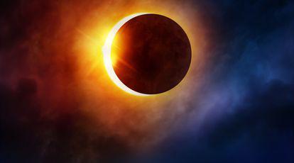 luna noua si eclipsa partiala de soare august 2018