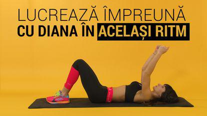 Antrenează-te în același timp cu Diana Stejereanu! Exercițiu pentru brațe tonifiate.