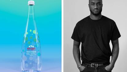 """(P) """"One drop can make a rainbow"""" – o colecție vibrantă, în ediție limitată, lansată de Evian ® în colaborare cu Virgil Abloh"""