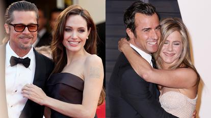 Angelina Jolie, Brad Pitt, Justin Theroux, Jennifer Aniston