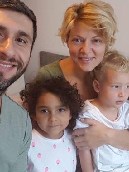 Dana Nalbaru si Dragos Bucur si copiii