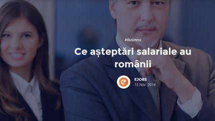 eJobs, site-ul numărul unu pe piața locală de recrutare online, a realizat un studiu ca să afle ce salarii își doresc românii.