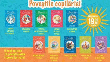 Acum ai ocazia să achizționezi colecția Poveștile copilăriei care se va lansa incepand cu 17 martie.