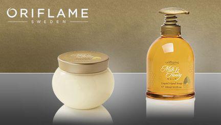 Concurs Oriflame – Câștigă unul dintre cele 10 seturi de produse Milk & Honey