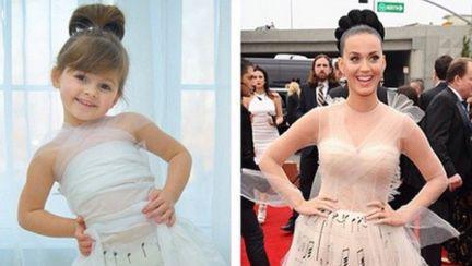 Designer la 4 ani. Vezi GALERIA FOTO cu fetiţa care imită vedetele pe covorul roşu