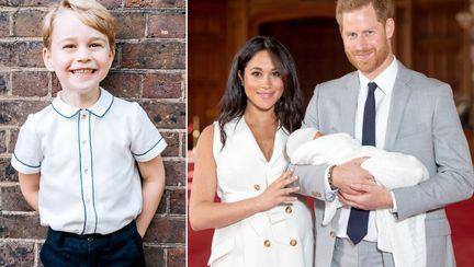 Printul George si bebelusul regal